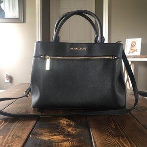 "Black Leather ""Hailee"" Michael Kors Handbag"
